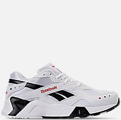 Mens 리복 Reebok Classics Aztrek Casual Shoes,White/Black/Red