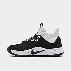나이키 맨 Mens Nike PG 3 (Team) Basketball Shoes,Black/Black/White