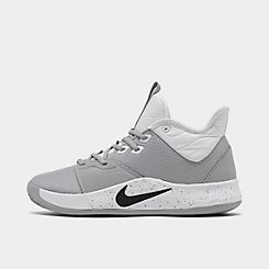 나이키 맨 Mens Nike PG 3 (Team) Basketball Shoes,Wolf Grey/Black/White