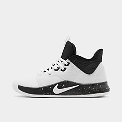 나이키 맨 Mens Nike PG 3 (Team) Basketball Shoes,White/White/Black
