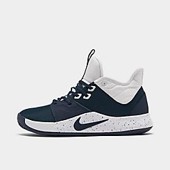 나이키 맨 Mens Nike PG 3 (Team) Basketball Shoes,Midnight Navy/Midnight Navy/White