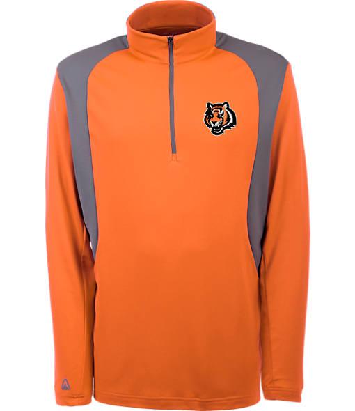 Men's Antigua Cincinnati Bengals NFL Delta Quarter Zip Shirt