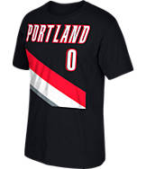 Men's adidas Portland Trail Blazers NBA Damian Lillard Name and Number T-Shirt