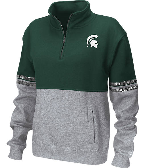 Women's Stadium Michigan Spartans College Rudy Quarter-Zip Pullover