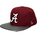 Front view of Zephyr Alabama Crimson Tide College Composite Snapback Hat in Team Colors