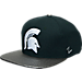 Front view of Zephyr Michigan State Spartans College Composite Snapback Hat in Team Colors