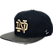 Front view of Zephyr Notre Dame Fighting Irish College Composite Snapback Hat in Team Colors
