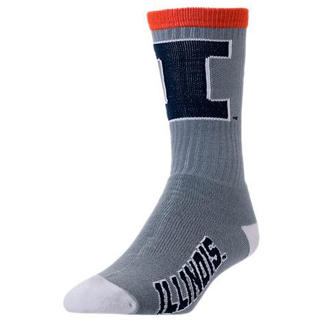 For Bare Feet Illinois Fighting Illini College Jump Key Socks