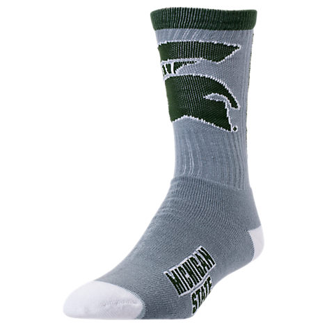 For Bare Feet Michigan State Spartans College Jump Key Socks