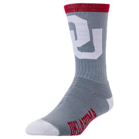 For Bare Feet Oklahoma Sooners College Jump Key Socks