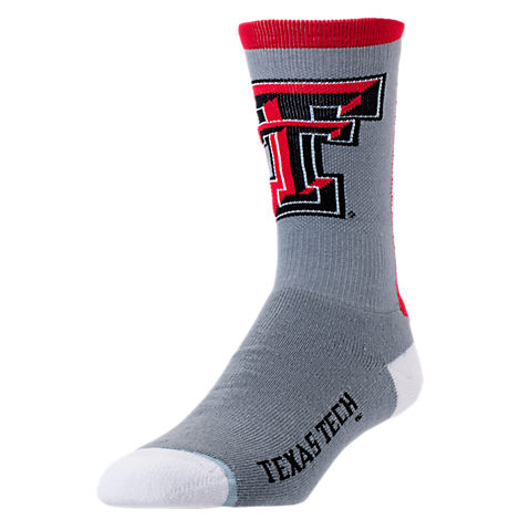For Bare Feet Texas Tech Red Raiders College Jump Key Socks