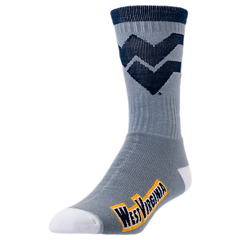 For Bare Feet West Virginia Mountaineers College Jump Key Socks