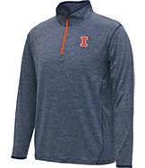 Men's Stadium Illinois Fighting Illini College Act Pass 1/4 Zip Shirt