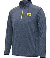 Men's Stadium Michigan Wolverines College Act Pass 1/4 Zip Shirt