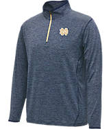 Men's Stadium Notre Dame Fighting Irish College Act Pass 1/4 Zip Shirt