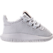 Right view of Boys' Toddler adidas Tubular Shadow Casual Shoes in White/White