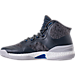 Left view of Men's adidas D Rose 8 Basketball Shoes in Grey/Blue