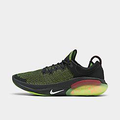 나이키 맨 Mens Nike Joyride Run Flyknit Running Shoes,Black/White/Electric Green/Kumquat