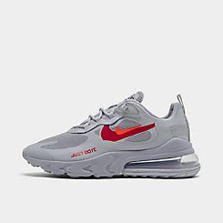 나이키 맨 Mens Nike Air Max 270 React Casual Shoes,Wolf Grey/Hyper Crimson/University