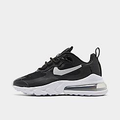Womens 나이키 Nike Air Max 270 React Casual Shoes,Black/Metallic Silver/Metallic Gold