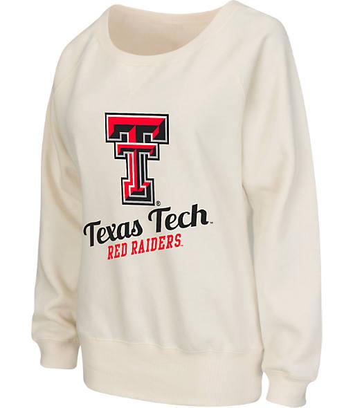 Women's Stadium Texas Tech Red Raiders College Cotton Crew Sweatshirt