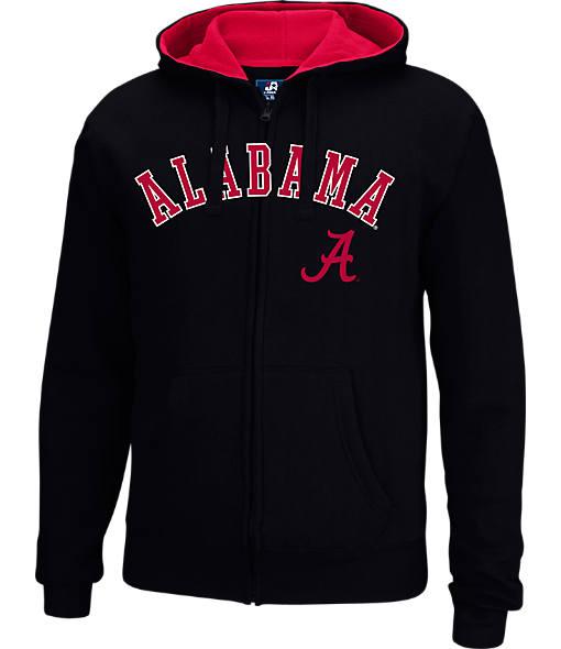 Men's J. America Alabama Crimson Tide College Cotton Full-Zip Hoodie