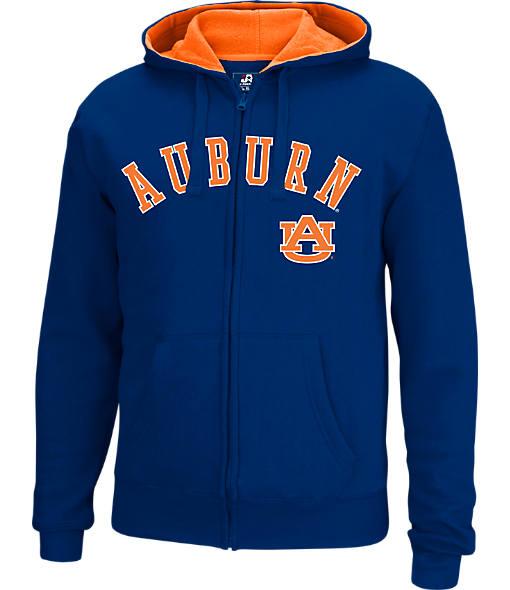 Men's J. America Auburn Tigers College Cotton Full-Zip Hoodie