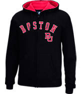 Men's J. America Boston Terriers College Cotton Full-Zip Hoodie
