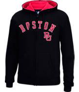 Men's J. America Boston Terriers College Cotton Full-Zip Hoodie