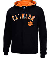 Men's J. America Clemson Tigers College Cotton Full-Zip Hoodie