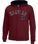 Men's J. America Harvard Crimson College Cotton Full-Zip Hoodie