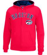 Men's J. America Houston Cougars College Full-Zip Hoodie