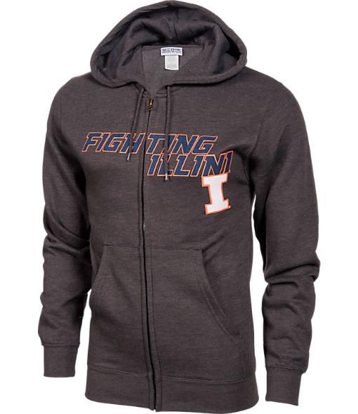 Men's VF Illinois Fighting Illini College Cotton Full-Zip Hoodie