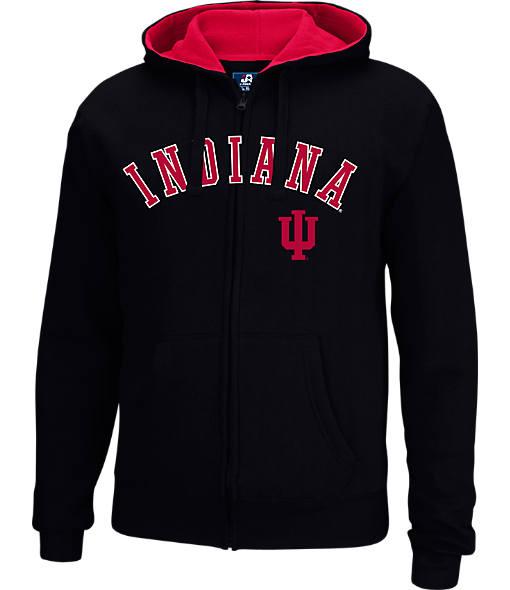Men's J. America Indiana Hoosiers College Cotton Full-Zip Hoodie
