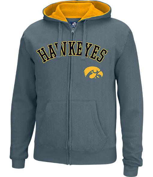 Men's J. America Iowa Hawkeyes College Full-Zip Hoodie