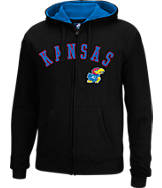 Men's J. America Kansas Jayhawks College Cotton Full-Zip Hoodie
