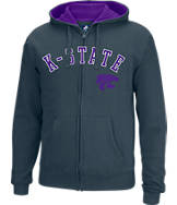 Men's J. America Kansas State Wildcats College Cotton Full-Zip Hoodie