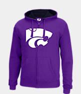 Men's J. America Kansas State Wildcats College Cotton Full-Zip Hoodie