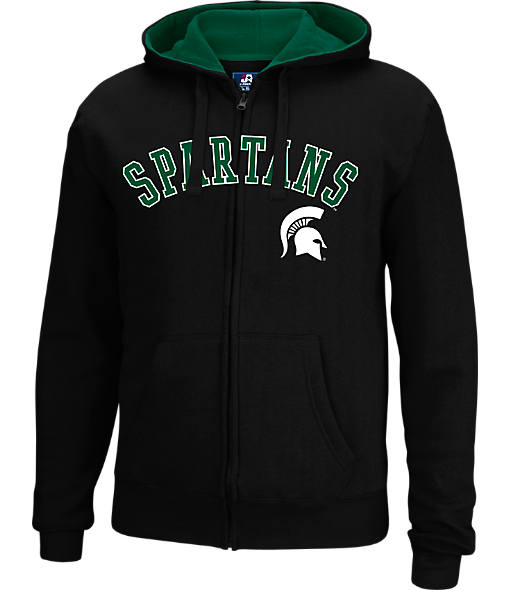 Men's J. America Michigan State Spartans College Cotton Full-Zip Hoodie