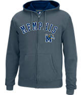 Men's J. America Memphis Tigers College Cotton Full-Zip Hoodie
