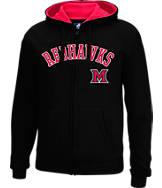Men's J. America Miami Ohio Redhawks College Cotton Full-Zip Hoodie