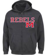 Men's VF Mississippi Rebels College Cotton Full-Zip Hoodie