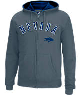 Men's J. America Nevada Wolf Pack College Cotton Full-Zip Hoodie