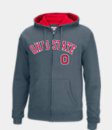 Men's J. America Ohio State Buckeyes College Full-Zip Hoodie