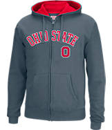 Men's J. America Ohio State Buckeyes College Cotton Full-Zip Hoodie