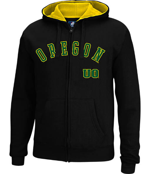 Men's J. America Oregon Ducks College Cotton Full-Zip Hoodie