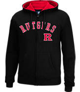 Men's J. America Rutgers Scarlet Knights College Cotton Full-Zip Hoodie