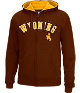 Men's J. America Wyoming Cowboys College Cotton Full-Zip Hoodie