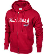 Men's Oklahoma Sooners College Cotton Full Zip Hoodie