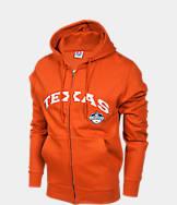 Men's Texas Longhorns College Cotton Full Zip Hoodie